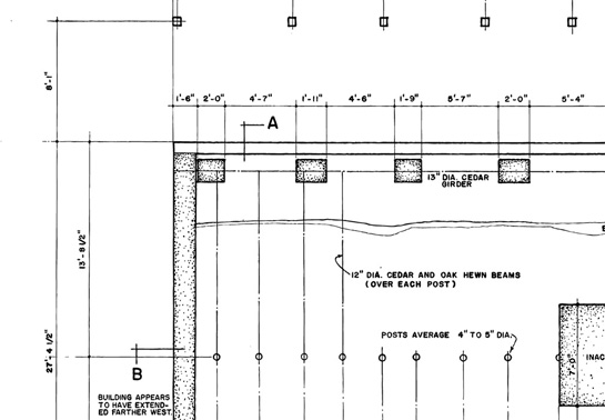 Blueprint for residential foundation